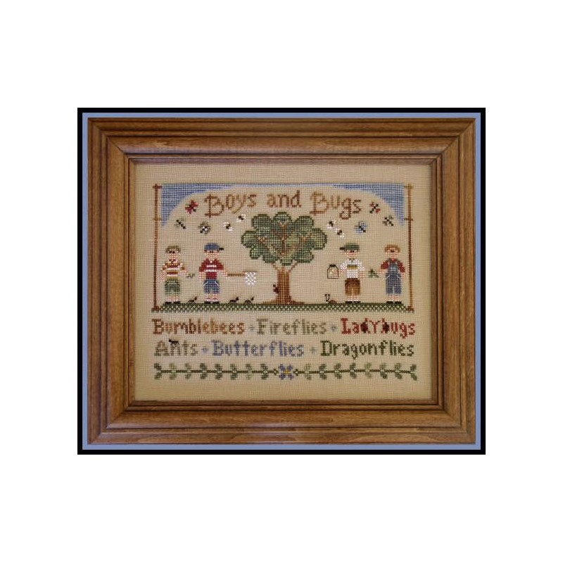 Boys and Bugs - Country Cottage Needleworks