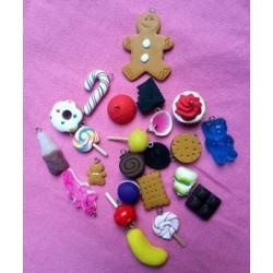 Lot de 24 boutons pour Sapin/Calendrier de l'avent Gourmandises