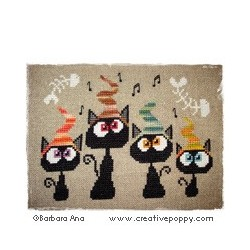 Quatuor de Chats ! Alley Quartet - Baraba Ana Designs