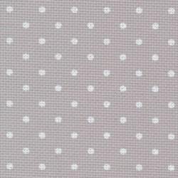 Aîda 8 Gris à Petit Pois blanc (7349) - ZWEIGART