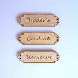 Bouton Banniere Broderie, Couture, Bienvenue