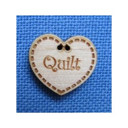 "Bouton coeur ""Quilt"""