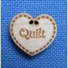 "Bouton coeur ""Quilt"""