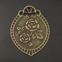 Plaque en bronze Initiale