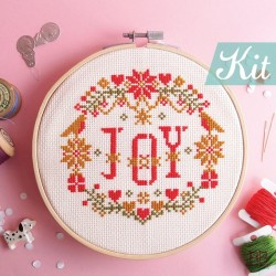 JOY in X'mas Floral Kit  - RedBear Design