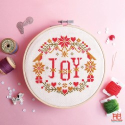 JOY in X'mas Floral  - RedBear Design