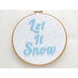 Let It Snow / Il neige - Toile Imprimée