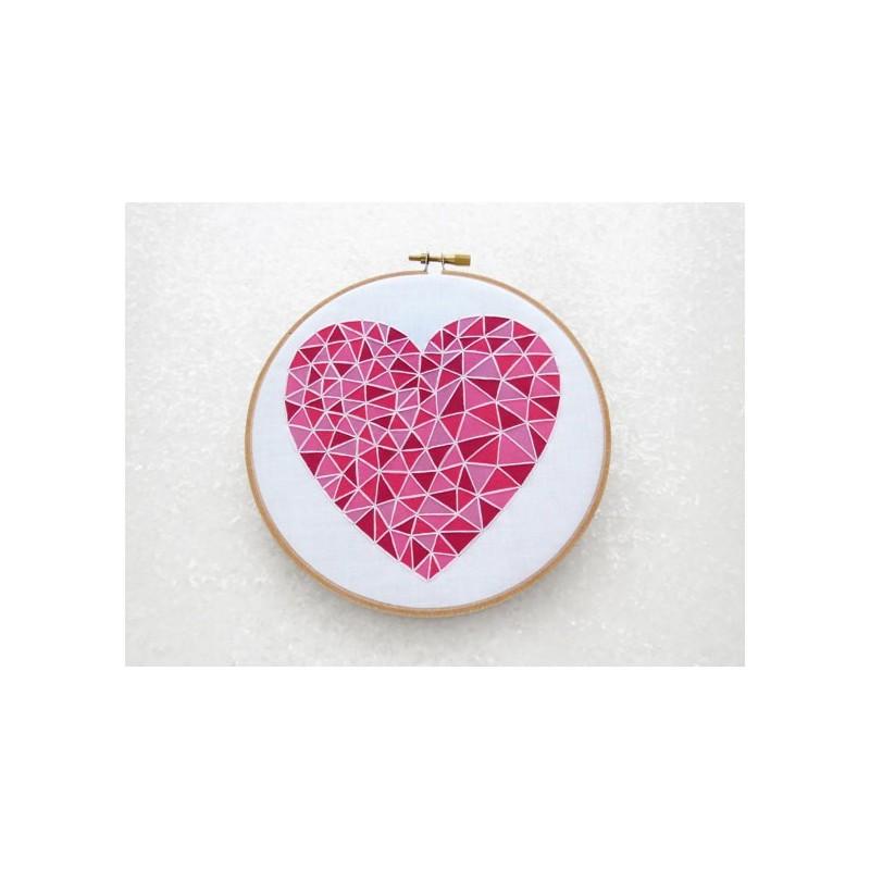 Pink Heart / Coeur Rose - Toile Imprimée