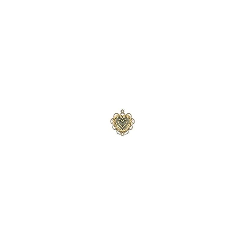 Charm Coeur dentelle