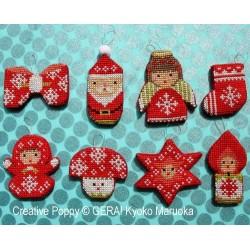 Christmas Mini Ornaments - GERA! by Kyoko Maruoka