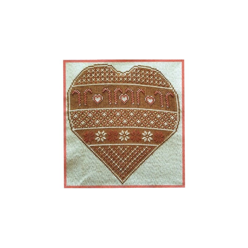Gingerbread Hearts and Candy Cane  - Le petit point compte