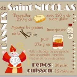 Cannes de Saint Nicolas - Fanfreluches de Mary