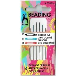 Aiguilles à perles - Assortiment 10-11-12