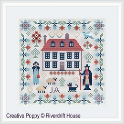 Mini Jane Austen Sampler - RIVERDRIFT House Needlwork