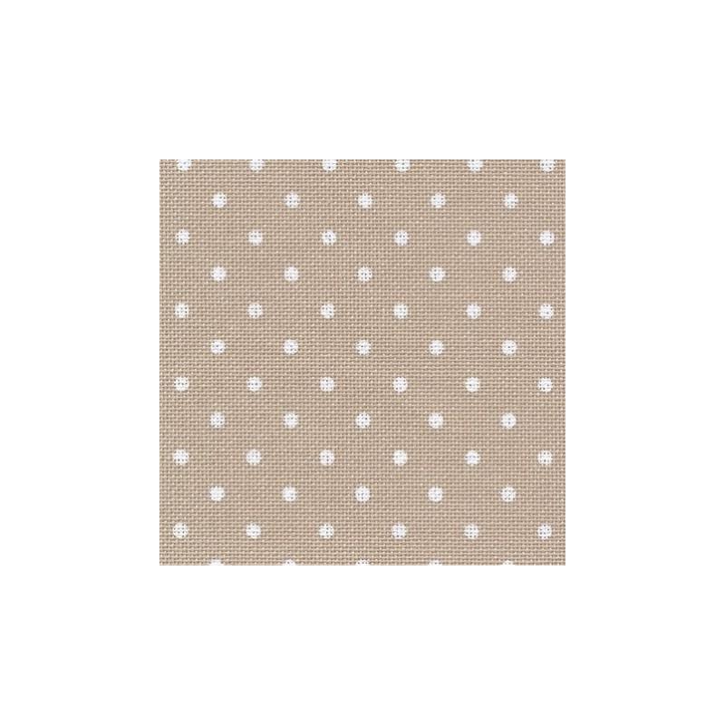 Murano 12.6 fils  - Beige à pois blanc  (7309) - ZWEIGART