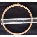 Tambour à broder en bois 21 cm - epaisseur 1.5cm
