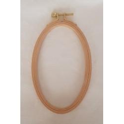 Tambour à broder en bois oval